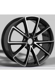 CROSS STREET CR-01 6X15 4X114.3 ET40 DIA66.1 bkf (  Nissan Almera 1.5 dCi (2000-2012)  (Гайка 12*1,25), Nissan Almera 1.5i (2000-2012)  (Гайка 12*1,25), Nissan Almera 2.2 dCi (2000-2012)  (Гайка 12*1,25), Nissan Almera Classic 1.6i (2005-2012)  (Гайка 12*