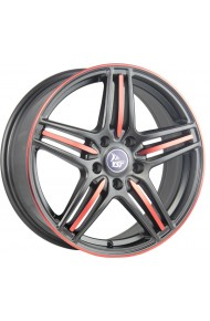 YST X-7 6.5X15 4X100 ET40 DIA56.6 mb+r (  Chevrolet Aveo (T250, T255) 1.2i (2004-2005)  (Гайка 12*1,5), Chevrolet Aveo (T250, T255) 1.4i (2004-2005)  (Гайка 12*1,5), Chevrolet Aveo (T250, T255) 1.2i (2006-2011)  (Гайка 12*1,5), Chevrolet Aveo (T250, T255)